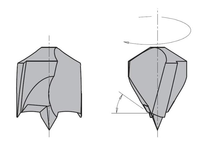 L=55,5 S=Ø8x20 Глухие свёрла CMT Свёрла и зенкеры Инструмент